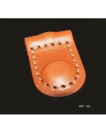 Covre meubelgreep hangend leder bruin/marone