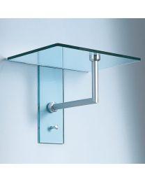 D-TEC glastablet/haak enkel ATLAS 1 B40xD30xH30cm glas mat+inox