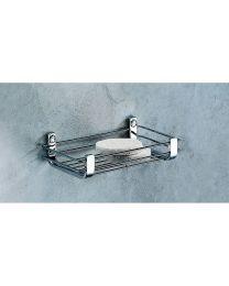 Colombo Bathware douchezeepschaal/rekje klein 20x11xH5cm COMPLEMENTI chroom