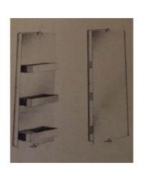 spiegel RONDO INOXPLAST roterend met 3 opbergvakken