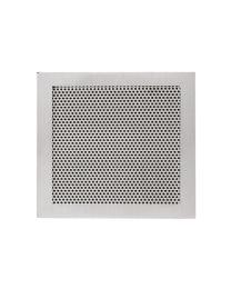 JNF luchtrooster 150x150mm met schroefgaten inox mat