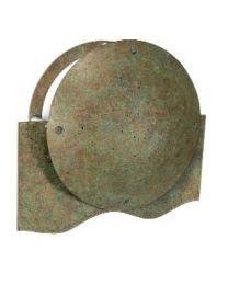 Strassacker buitenlamp wand SENSO halve middenplaat brons