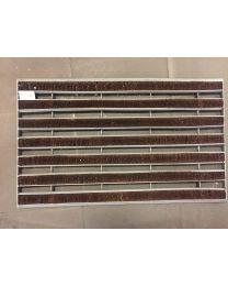 Bergers deurmat CLIMA/COCO B385xL650mm coco+metaal
