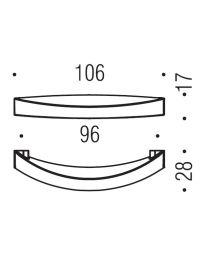 Formae meubelgreep as=96mm goudkleur messing mat