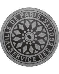 Bergers deurmat/voetmat rond FRED PARIS stof/vezel antraciet