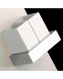 Gessi glashouder dubbel croom/wit muur