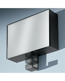 Confalonieri kapstok/spiegel 15cm zilver