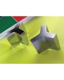 Formae meubelknop D38xB25xH33mm croom mat