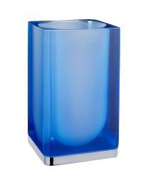 Gedy tandenborstelbeker ICEBERG blauw glas