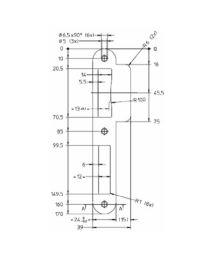 Litto sluitplaat/tegenplaat PC080-39 links/rechts keerbaar inox