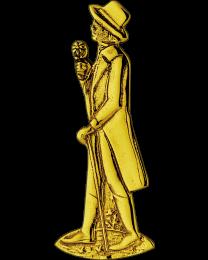 Bisschop picto symbool heer messing poli 150mm