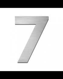 """Serafini huisnummer zelfklevend 15cm """"7"""" inox mat"""