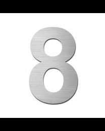 """Serafini huisnummer zelfklevend 15cm """"8"""" inox mat"""