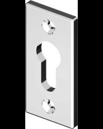 Bonomi GBT sleutelplaat FLUTED LINE PZ nikkel poli 75x35mm 5mm