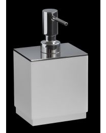 Ri Fra zeepdispenser CLEAN corian inox poli L10xB8xH18,5cm