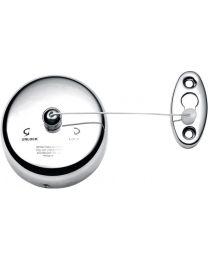 Decor Walther drooglijn/waslijn muur Ø9cm uittrekbaar max 230cm croom