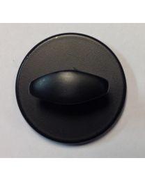Randi toiletgrendel Ø52mm zwart LINE 18 onzichtbare montage
