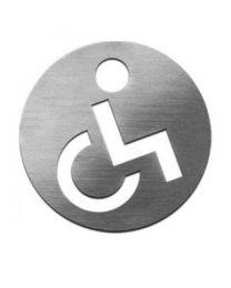 Serafini picto gehandicapten Ø70mm kleven inox