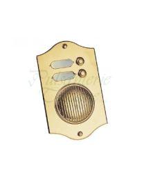 Pulsanterie Toscane belplaat met parlefoon 200x120mm 2 beldrukkers messing