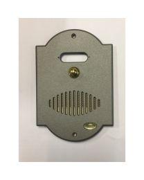 Pulsanterie Toscane belplaat met parlefoon 200x180mm 1 beldrukker graffiet