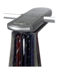 Balvi dassenhouder/dassenrek automatisch/batterij metaal grijs