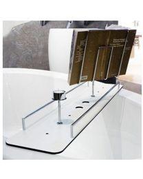 Giese badbrug plat 750x180mm zonder toebehoren croom