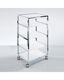 Decor Walther trolley/rolwagen croom + mat glas B30xD38xH80cm