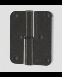 Quincalux paumel 80x80mm afgerond zwart links