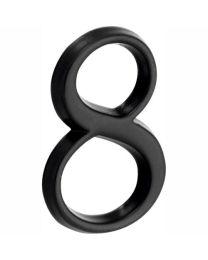 """Wallebroek huisnummer ROMAN 50mm """"8"""" zwart"""