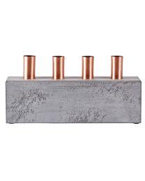 KJ kandelaar 4 kaarsen mdf metal grey copper