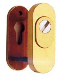 Reguitti veiligheidscylinderslplaat kern 35mm ovaal brons
