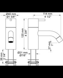 """Vola koudwater/toiletkraan 1/2"""" bladmontage 150mm donkergroen"""