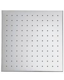 Tres douchekop vierkant 30x30cm anti-kalk chroom
