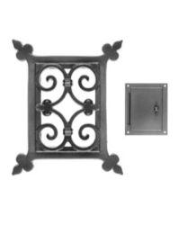 Rutten judas 1730 B105xH150mm met deur klein zwart