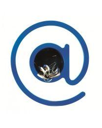 Outlook kapstokhaak @ at-teken blauw