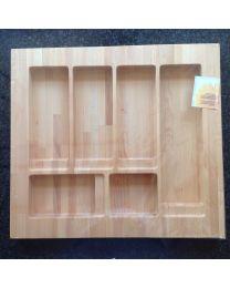 Kessebohmer bestekbak 49x54,5cm 5 compartimenten hout
