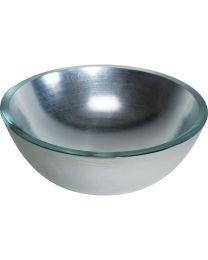 Linea Beta fonteinkom Ø30cm opbouw ACQUAIO zilver glas