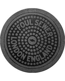 Bergers deurmat/voetmat rond FRED LONDON stof/vezel antraciet