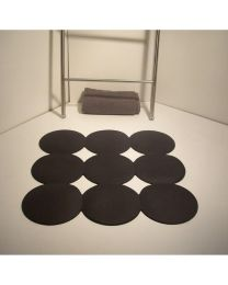 RI.DA.P. antislipbadmat GIOTTO 55x55cm zwart