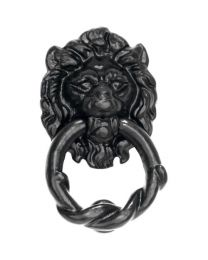 Wallebroek deurklopper LION ijzer zwart