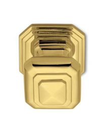 Anthologhia deurknop vast doorgaand BUSIRI 70x70mm brons