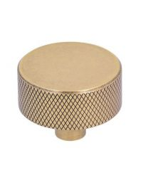 Siro meubelknop Ø33xH25mm geribbeld vintage gold