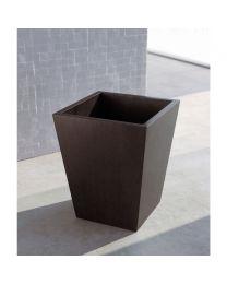 Pom D'or vuilnismand/papiermand ISIDE H30x25x25cm hout wengé
