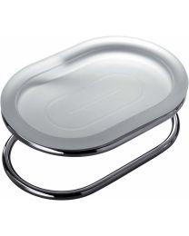 Colombo Bathware zeephouder staand verzuurd glas LUNA croom