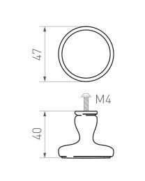 CDF/Création du Fer meubelknop BT267TER 32mm messing poli
