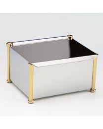 Windisch vochtigedoekjeshouder croom+goud H85x150x125mm