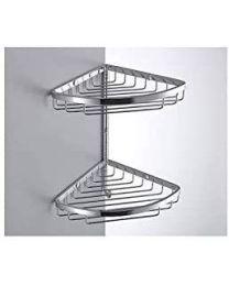 Colombo Bathware hoekrek dubbel 180x180xH295mm COMPLEMENTI croom