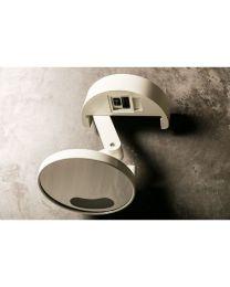Gedy vergrootspiegel PATRIK beweegbaar+lamp+stopcontact wit