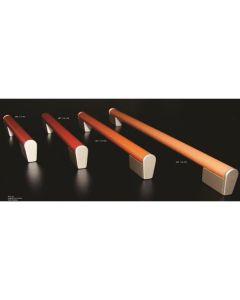 Covre meubelgreep TT as=160mm leder natuur+nikkel mat