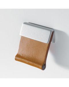 Confalonieri meubelgreep beweegbaar nikkel mat leder